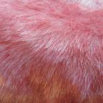 Faux Fur Red and White - fake craft..